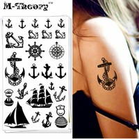Fashion        Temporary  Tattoo  Marine  Pirate    Tattoo