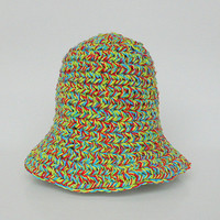 Baby Summer Hat 3 To 6 Month Old  Girl  Cap Infant Boy Colorful Yellow Red Green Blue Cotton  Spring Beanie