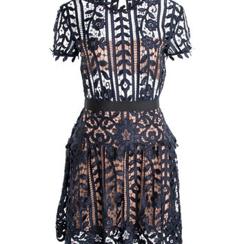 Self-Portrait A-Line Lace Dress