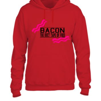 Bacon- Duct tape of food - Vector - UNISEX HOODIE
