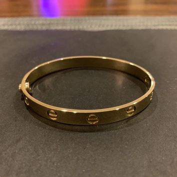 Cartier 14K Yellow Gold LOVE Bangle Bracelet (Costum HAND MADE)
