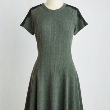 Mid-length Short Sleeves A-line Swing Your Praises Dress