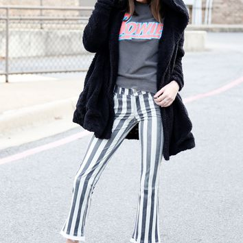 RTA | Kiki Striped Kick Flare Pants