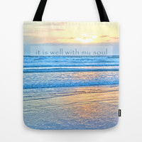 It Is Well With My Soul Tote Bag by Shawn Terry King