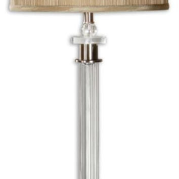 Table Lamp - Fluted Glass Column