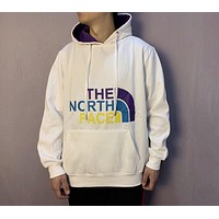 The North Face 2019 new color big standard couple models hooded sweater white