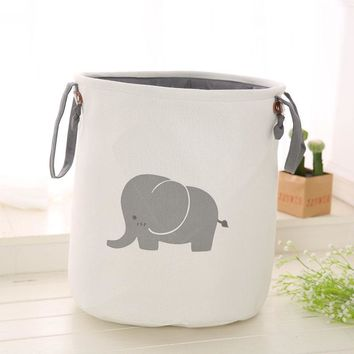 Cotton Linen Large EVA Laundry Basket Hamper Foldable Dirty Clothes Storage Bin Durable Kids Room Toys Organizer