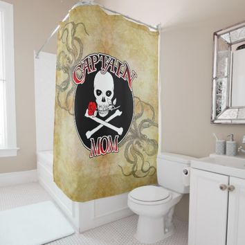 Captain Mom - Embraced by the Deep Shower Curtain