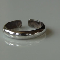 Stamped 925 Sterling Silver Simple Toe Ring Adjustable
