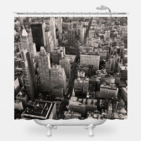 Flatiron City From Above Shower Curtain