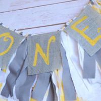 high chair garland - girl birthday banner - high chair banner - you are my sunshine party - grey giraffe party - baby girl high chair banner
