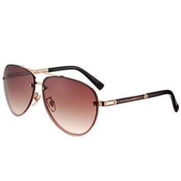 Dolce and Gabbana Pilot Gold Frame Sunglasses 308194