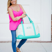 Sorority Mint Sullivan Weekender Bag