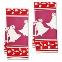 Holly & Bell Holiday Icon Tea Towels, Set of 2, Tea towels & Dishtowels