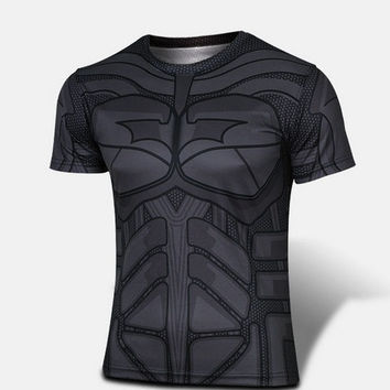 Batman Cosplay Functional T-Shirt Breathable fabric