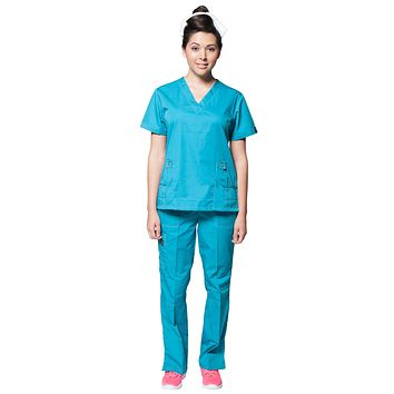 Women's Designer Double Stitched Medical Scrubs