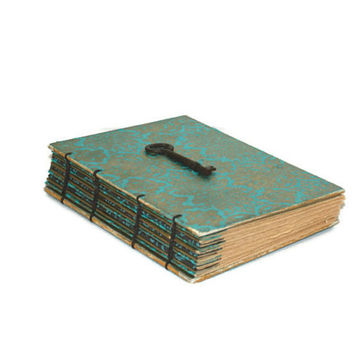 Aqua and Gold Wedding Guest book, Journal or Diary