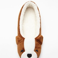 Plush Dog Slippers