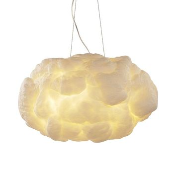 Modern Creative Pendant Lights Romantic White Clouds Led Lightning Effect Lamp White Soft Floating Cotton Cloud Hanging Light