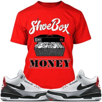 Air Jordan 3s Tinker Sneaker Tees Shirts - SHOE BOX MONEY