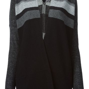 Vince oversized stripe detail cardigan