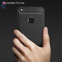 KRY Carbon Fiber Phone Cases For Huawei P10 Lite Case Cover For Huawei P10 Lite Cases Capa Coque Soft Anti Knock Anti Skid