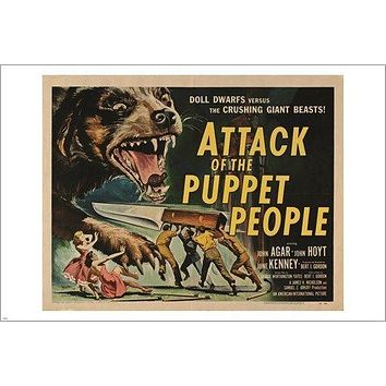 ATTACK OF THE PUPPET PEOPLE vintage movie poster SCI-FI CAMPY 24X36 hot new