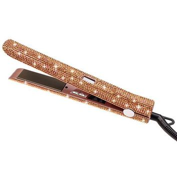 Bling Bling Crystal Hair Flat Iron LCD Ceramic Hair Straightener different colors