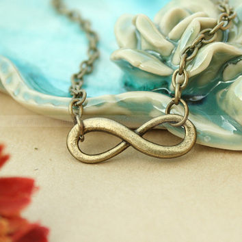 necklace- infinity karma necklace, antique bronze invinity gift necklace for friend, girl friend, boyfriend
