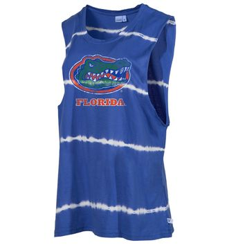 Official NCAA University of Florida Gators The Orange and Blue GATOR NATION! Women's Boyfriend-fit Sleeveless O-Neck Bamboo Muscle Soft Premium Tank