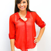 MACA Clothe · Chiffon Top Red