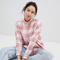 ASOS DESIGN Oversized Boyfriend Shirt In Picnic Check at asos.com