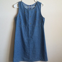 90s Sunflower Denim Dress
