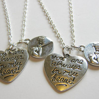 2 Pinky Promise Pinky Swear You Are Always In My Heart  Best Friends BFF Sisters Couples Necklaces