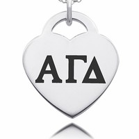 Buy Alpha Gamma Delta Sorority Laser Engraved Heart. Free Shipping