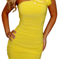Young Forever (Yellow)-Great Glam is the web's top online shop for trendy clubbin styles, fashionable party dress and bar wear, super hot clubbing clothing, stylish going out shirt, partying clothes, super cute and sexy club fashions, halter and tube tops