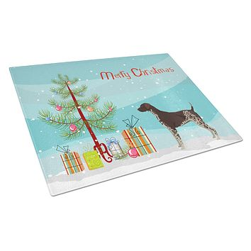 German Shorthaired Pointer Christmas Tree Glass Cutting Board Large CK3541LCB