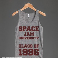 Space Jam University 1996-Unisex Athletic Grey Tank