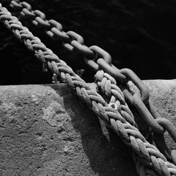 Ropes and Chains, Fine Art, Black and White print.
