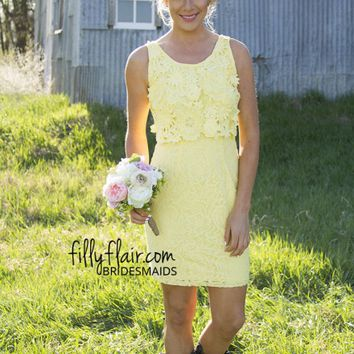 Vivian Day 3D Lace Bridesmaid Dress