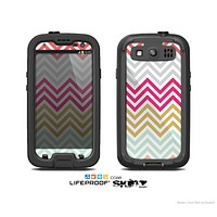 The Three-Bar Color Chevron Pattern Skin For The Samsung Galaxy S3 LifeProof Case