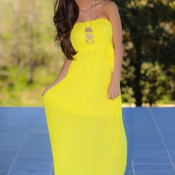 Getting Noticed Maxi Dress-Sunflower