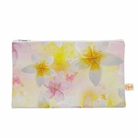 "Sylvia Cook ""White Watercolor Plumerias"" Yellow Pink Digital Everything Bag"