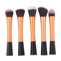 Golden brushes kit 5pcs profesional Cosmetic makeup brushes Toiletry make up tool makeup brush set pincel maquiagem beauty cheap