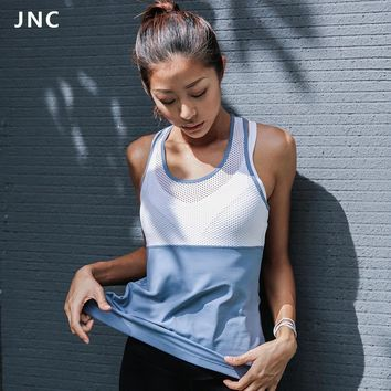 2017 Woman Sleeveless Yoga Tank Top White Mesh Sports Tops Fitness Shirt Open Back Running T-shirts Hollow Out Sports Vest
