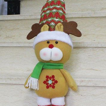 Cut Standing Reindeer Doll Toy Xmas Decoration Best Gift
