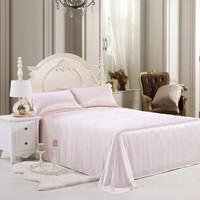 19 momme Pink Luxuer Silk Flat Sheet