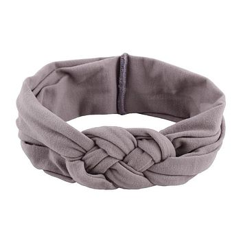 1 pc Fashion Style Female Hair Head Bands Braided Cross Turban Knot cotton elastic Hairbands headband Headwear accessories