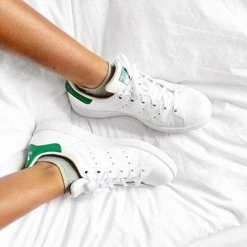 Adidas Stan Smith Trending Classic Women Men Casual Running Sport Shoe Sneakers Green I