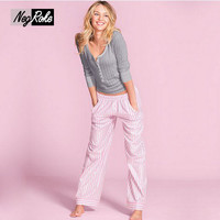 Spring 100% cotton pajamas for women pijamas simple ladies long sleeved casual pajamas Sets pyjamas women sleepwear